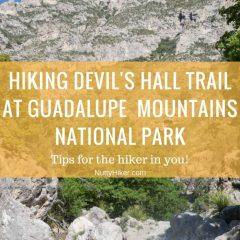 Hiking Devil's Hall Trail at Guadalupe Mountains National Park