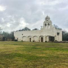 Visiting Mission San Juan in San Antonio.