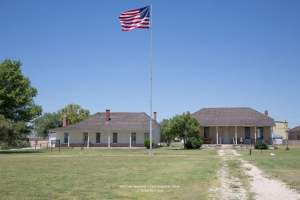 Old Historic Fort Stockton Parade Ground & View of Officer's Row