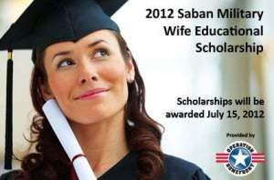 Saban Military Wife Scholarship