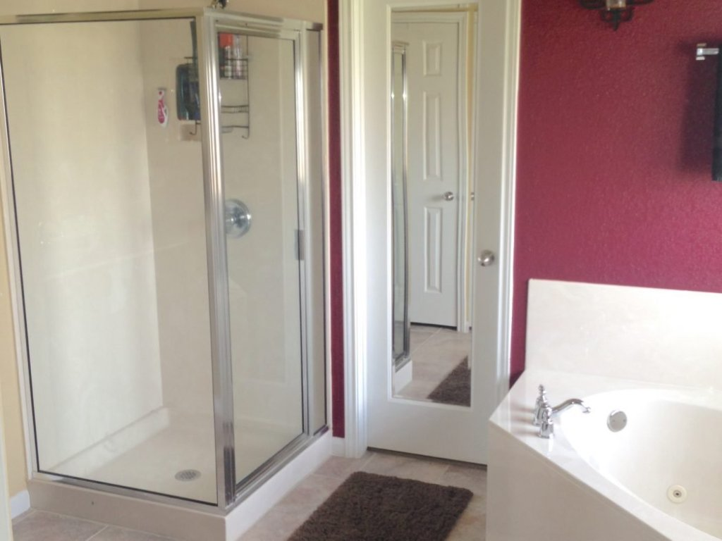 Transformation of glass shower before