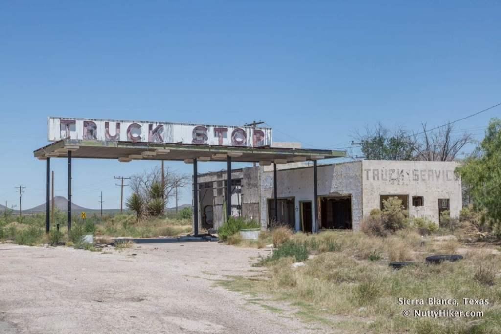 The old and abandoned Sierra Blanca Truck Stop in Sierra Blanca Texas off HWY 80