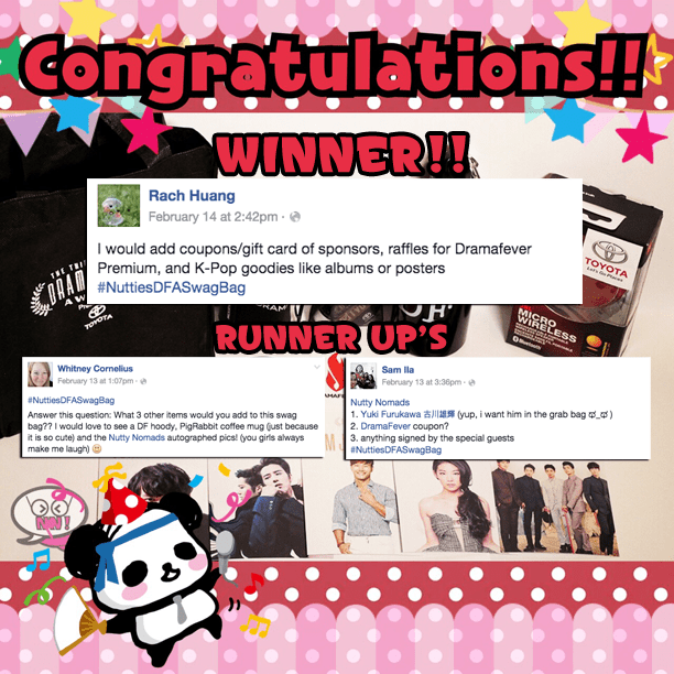 Dramafever Swag Bag Giveaway: Winners!! | Nutty Nomads
