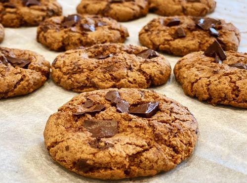 glutenfri veganske cookies - opskrift med bananmel