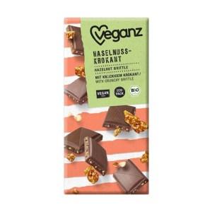 vegansk mælkechokolade - Veganz chokolade med hasselnødder