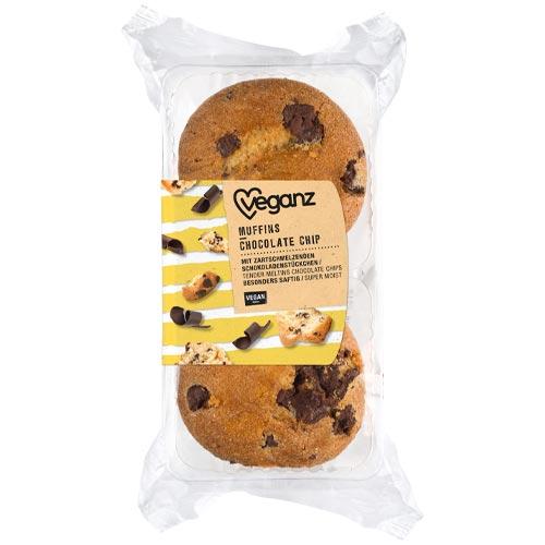 veganske muffins køb - veganz chocolate chips muffins