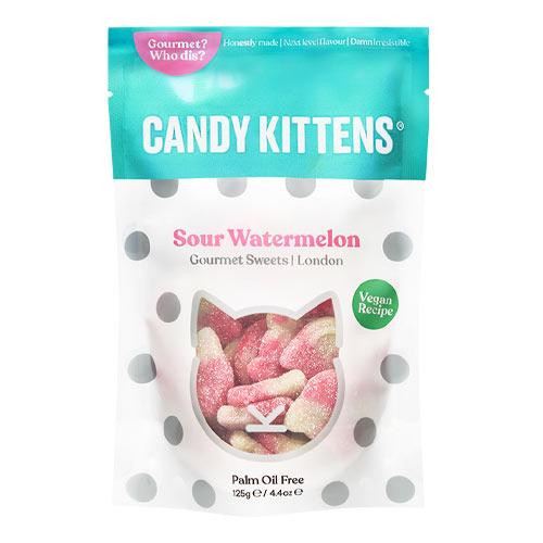 vegansk slik - candy kittens sour watermelon vingummi