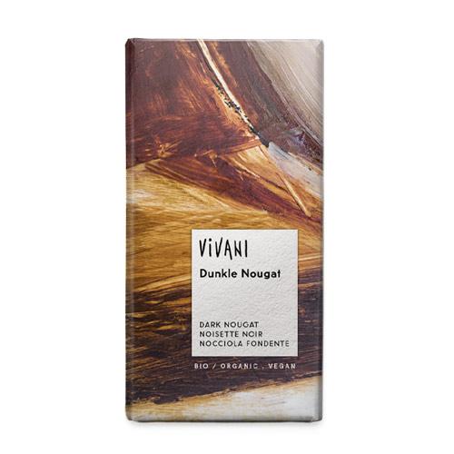mørk vegansk chokolade - VEGANSK julechokolade med nougat
