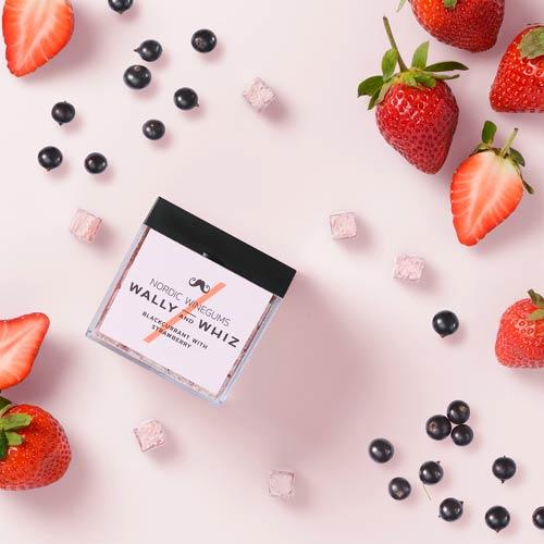 vegansk vingummi køb online - wally and whiz jordbær og solbær