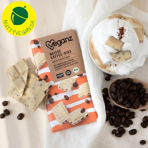 vegansk-hvid-chokolade-med-kaffe-nibs-Veganz chokolade
