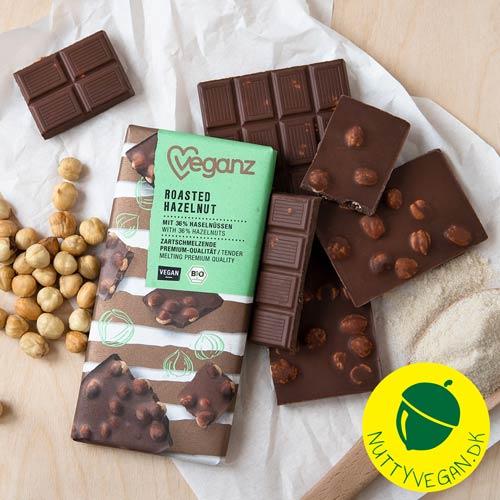 veganz chokolade med nødder køb online