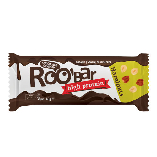 vegansk proteinbar køb online - roobar proteinbar med hasselnødder