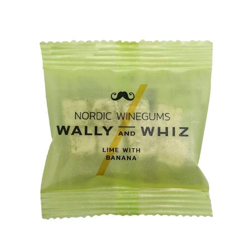 vegansk vingummi - wally and whiz lime med banan