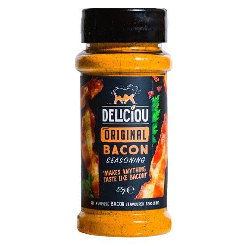 vegansk baconkrydderi køb - deliciou bacon seasoning