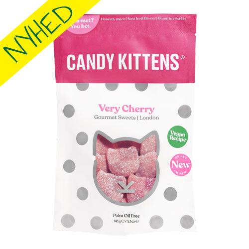 vegansk vingummi - vegansk slik - candy kittens cherry