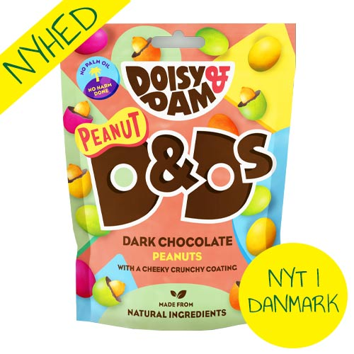 veganske m&ms med peanut - vegansk slik - doisy and dam