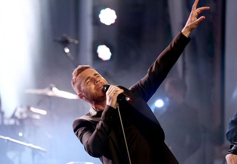 LONDON, ENGLAND - APRIL 24:  Gary Barlow performs with Take That during a secret gig for Magic FM at One Marylebone on April 24, 2015 in London, England.  (Photo by Tim P. Whitby/Getty Images)