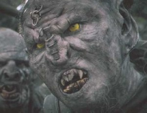 The Tolkien Orc, Copyright LOTR Movie Rights.