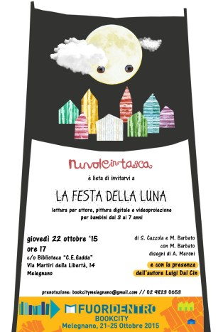 LA FESTA DELLA LUNA, DentroFuori BookCity Melegnano, 22 ottobre 2015
