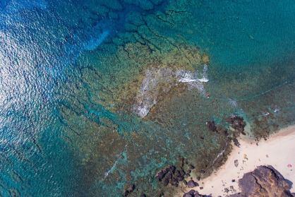 Meer Strand La Reunion Drohnen Foto