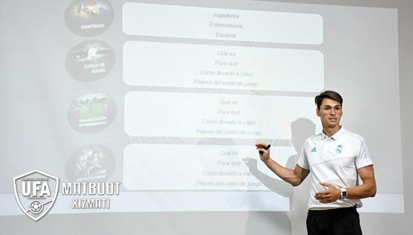 Трое тренеров Real Madrid проводят в Ташкенте цикл семинаров по детскому футболу