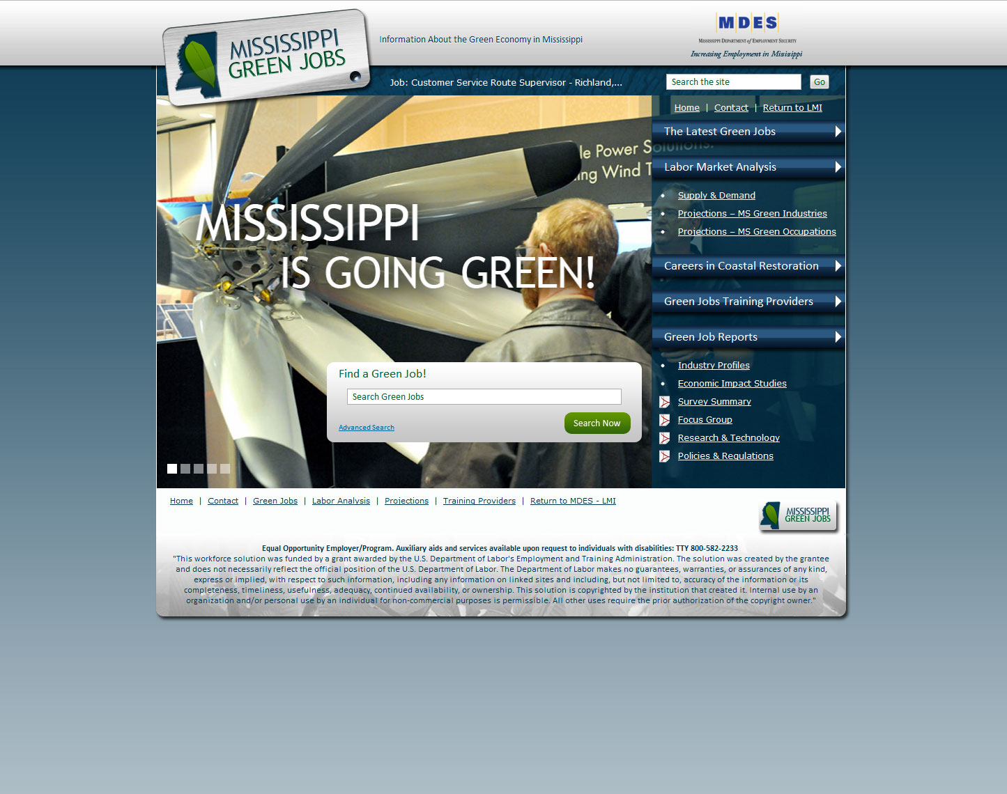 Green Jobs Mississippi