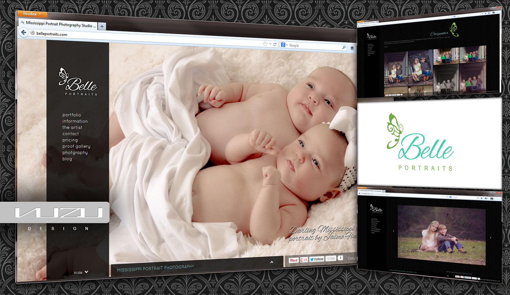 Belle Portraits Website Designer
