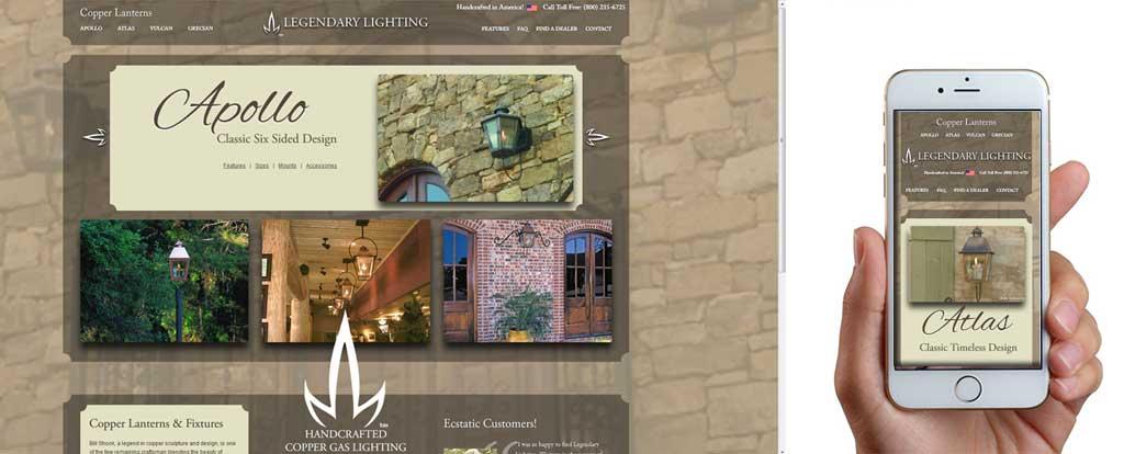 Legendary Lighting Website Design