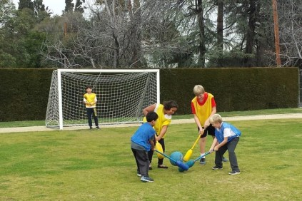 3rd and 4th grade played pilo polo
