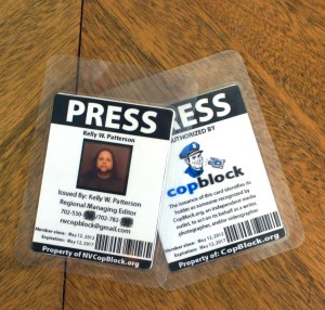 Cop Block Press Pass