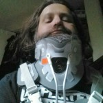 """Kelly W. Patterson. NVCopBlock.org editor and local activist, shortly after a hit and run """"accident."""""""