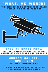 Scott Crow will be in Vegas Monday, May 19th