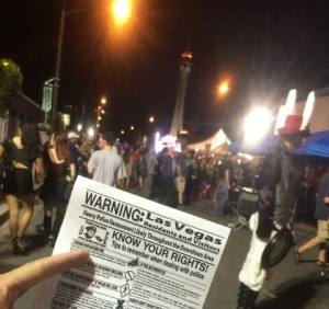 Flyering During First Friday in Downtown Las Vegas