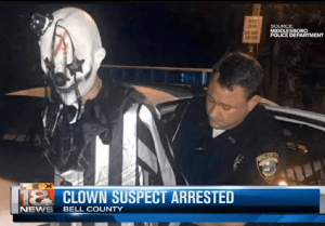 Suspected Clown Arrested