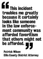 Patrick Wilson Ellis County District Attorney Church Statement Favoritism