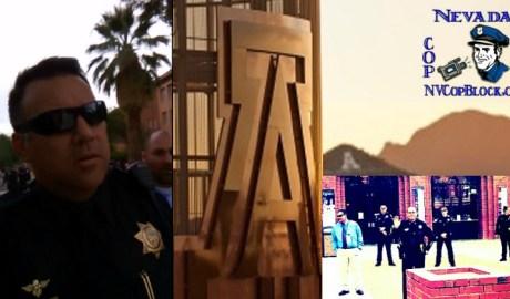 Harassment of Cop Blocker by University of Arizona Police