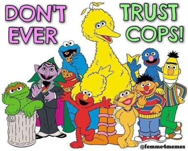 FTP Don't Trust Cops Sesame Street Big Bird