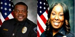 The Henderson Police Department's newly hired Deputy Chief of Police, Thedrick Andres, and Chief of Police, LaTesha Watson