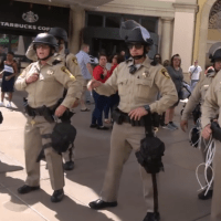 LVMPD Riot Police Deployed on Las Vegas Strip During Mother's Day Vigil