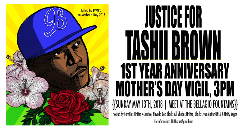 Mother's Day Vigil One Year After Tashii Farmer was Murdered by LVMPD Officer Kenneth Lopera