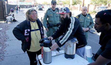 Las Vegas Police Harassment of People Helping Homeless