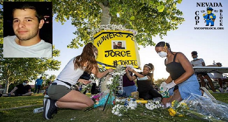Memorial for Jorge Gomez in Las Vegas