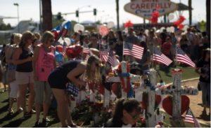 The Original vigil site for the Las Vegas Mass Shooting
