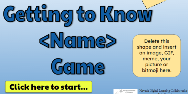 Getting to Know - Name Game