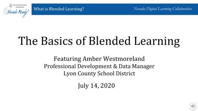 The Basics of Blended Learning