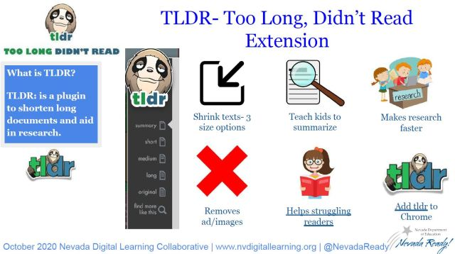 picture of the TLDR infographic