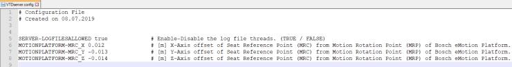 Configuration File Screenshot