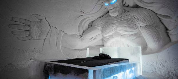 Ледяной отель из «Игры престолов» в Лапландии