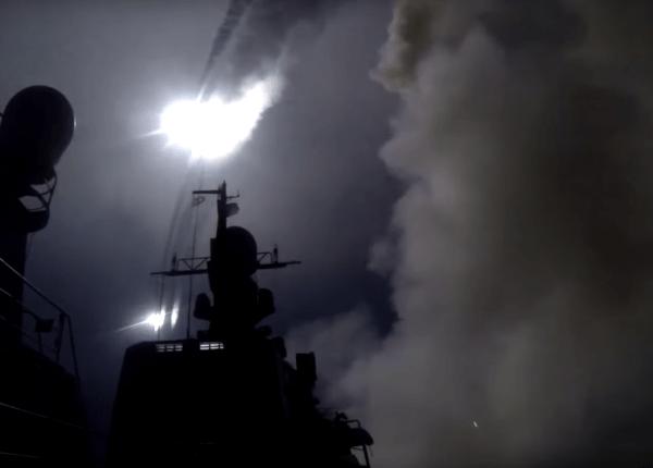 Как российский флот обстрелял ИГИЛ в Сирии