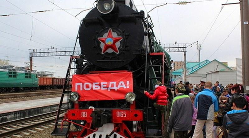 Ретро-поезд в честь Дня победы прибыл в Медногорск